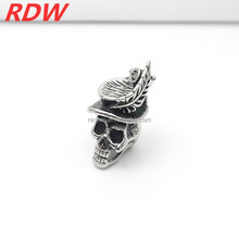 2015 RDW YIWU Factory High Quality Fashion Stainless Steel Casting Skull Rings For Cool Man