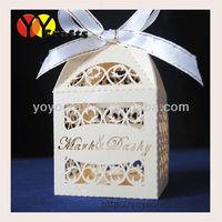 laser cut wedding favours chocolate gift box paper free logo wedding box