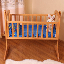 ECO-friendly baby swing bed baby bassinet wooden baby cradle