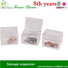 Transparent PS material box box shape makeup organizer