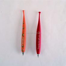 school childern custom soft pvc ball pen
