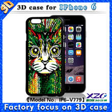 Wholesale best 3D effect lenticular images tpu cell phone case for iphone 6 plus, case with color changing cat