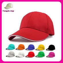 Multi color custom made promotional caps 100 cotton twill baseball cap with sandwich