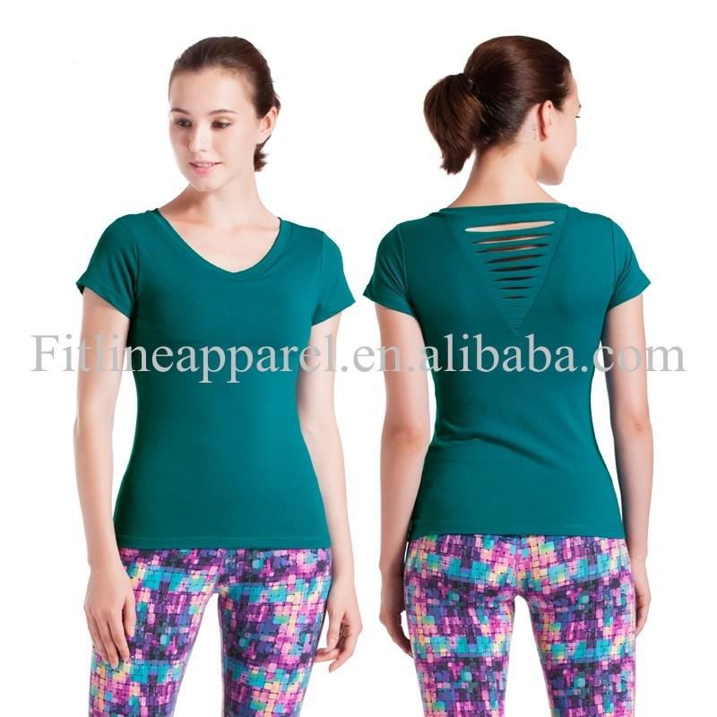 Slim Fit Compression T Shirt Womens Fitness T Shirts