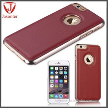 Luxury High quality Italy Genuine Real Leather slim with Markrolon 2805 PC cell phone case for iphone 6 4.7 inch