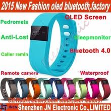 2015 hot fit bit smart bracelet OLED screen sleep monitor anti lost vibrating alarm smart bluetooth silicone wristband