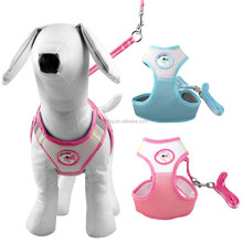Factory Cheap Soft Fabric Air Mesh Breathable Pet Dog Body Harness With Leash