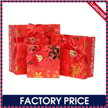 Factory price custom made cardboard wedding gift box for candy