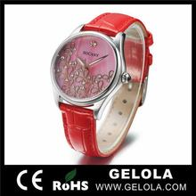 Fashionable hot selling water resistant business watch ,pair or lover watch ,custom face ladies watches silicone