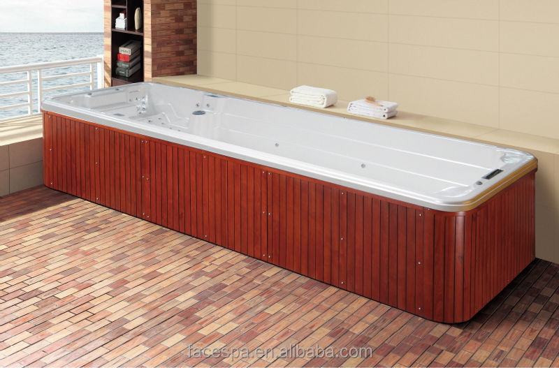 Prefabricated Pools Above Ground Swim Spa Fs S12 For Resistance Swimming View Endless Pool