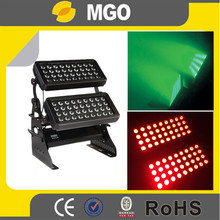 led stage light double head 72*10w led double wall washer wash