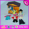 2015 New kids wooden toy doll house sets, popular children doll house sets toy and hot sale baby doll house sets WJ276659