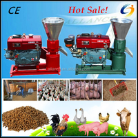 200-300kg/h Small homeuse Diesel flat die feed pellet making machine for chicken,pig,goat,rabbit,horse,cattle,fish,duck