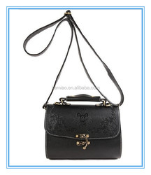 classic black ladies hot selling long strap imported handbags cheap vintage leather shoulder messenger tote bag 2014