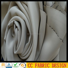 Luxury curtain fabric/Beige color fabric for curtain /Blackout fabric curtain