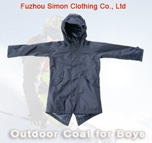 Outdoor Snow and Ski Coat for Boys with Adjustable Swallow Tail