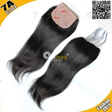 Top closure 7A brazilian lace closure middle part/free parting/three part virgin brazilian straight lace closure