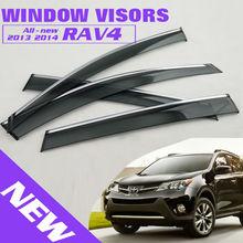 2013 2014 RAV4 Side Window Deflectors Door Visor Window Visors For Toyota RAV4 All New Exterior Accessories