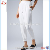 2015 OEM ladies white picture of pant and shirt