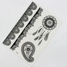 Black temporary tattoo sticker