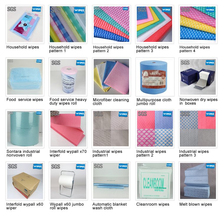 New York most strong spunlace nonwoven disposable cleaning wiping cloths