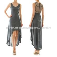 Summer oem últimos diseños de vestir para damas delantero corto y vestido largo