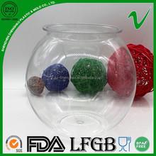 PET ball shape plastic container for hotsale refillable large cheap transparent