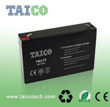lead acid battery 6v 7ah security and alarm system battery