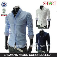 Men's Stylish Slim Fit Long Sleeve Casual Shirts Business Formal Tops shirt