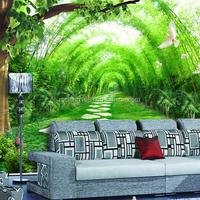 Washable wallpaper bamboo mural home decor