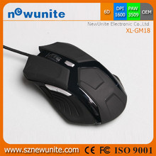 Pro Gaming USB Wired PC Laptop Backlit Gaming Mouse Optical Mice Ergonomic Design Black Cool