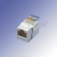 Tooless UTP Cat5e Modular Jack RJ45 Connector with 90 Degree Surlink