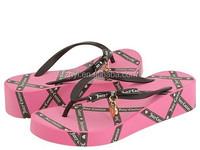 Ladies new fashion eva high heel flip flop sandals