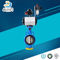 Wafer Lug Pneumatic Auto Drain Butterfly Valve Handle
