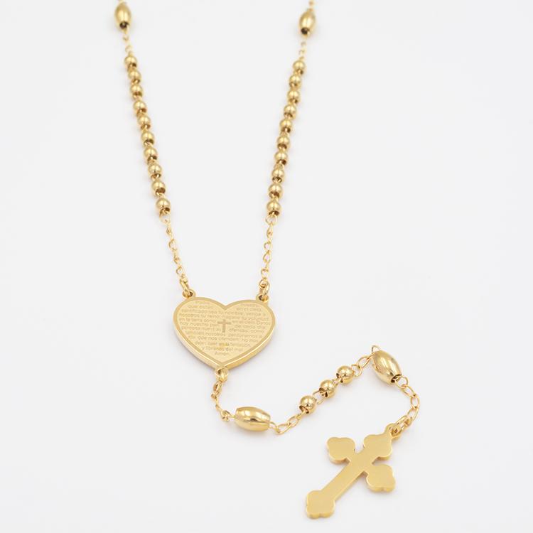Красивая мода высокого качества 3 мм небольшой крест из нержавеющей стали четки
