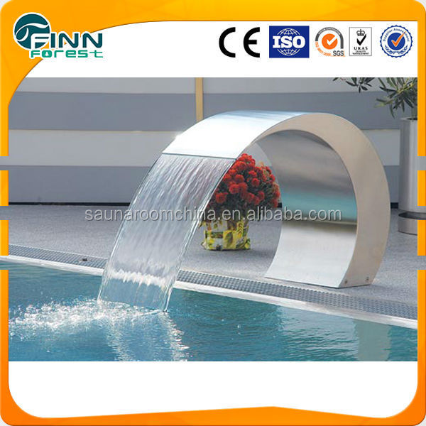 Swimming Pool Polished 304 Stainless Steel Waterfall Buy