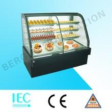 Marble base three layer cake display fridge