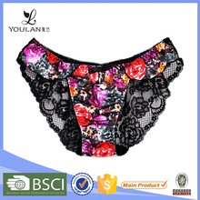 Fantasy OEM service flower printing sex panties sex man/sexi panty woman