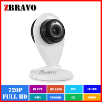 Manufacturer Price 720P 1.0Megapixel wireless wi-fi ip camera, P2P Onvif Mini Household IP camera