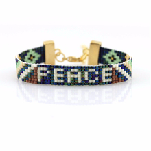 PMW036 Inspired Peace Motif Bracelet Jewelry, High Quality Leather Cord Seed Beads Braided Fashion Bracelet