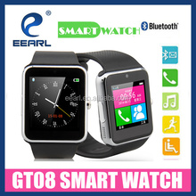 New Arrival Bluetooth GT08 Smart Watch Wrist Watch with SIM Card Anti-lost Camera for Android Smart Phone