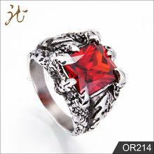 Custom wholesale Casting Mens Stainless Steel Wedding Zircon Ring