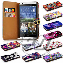 For HTC Desire 820 Mini High Quality Print Card Holder Flip PU Folio Wallet Leather Case Cover Moible Phone Csae