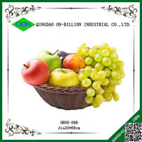 Artificial decorative plastic rattan fruit basket