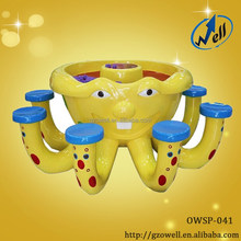 Amusement Park Fiberglass Sand Play Art Table for Kids
