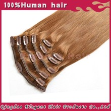 New products women hair brazilian grade 5A quality clip in hair extension amazing hair