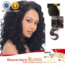 New Arrival 8''~32'' Brazilian spiral curl Hair Extension spiral curl Human Hair Wet And Wavy