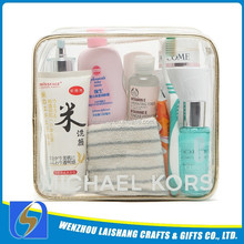Customized Printed Clear Plastic Travel Pouch For Promotional Gift