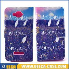Wholesale price leather flip cover case for alcatel one touch pop c7