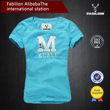 2015 New design from china alibaba,print cotton t shirt,wholesale women clothes